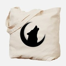 Howling Wolf Silhouette With Moon  Tote Bag
