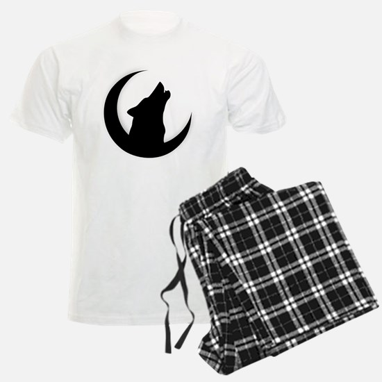 Howling Wolf Silhouette With  Pajamas
