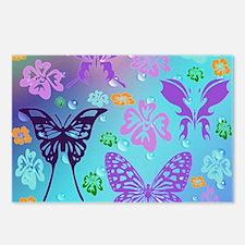 Cute Purple butterflies Postcards (Package of 8)