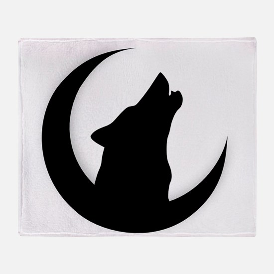 Cute Howling wolf Throw Blanket