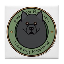 Love My Keeshond Tile Coaster