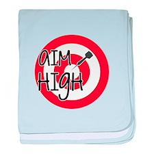 Aim High baby blanket