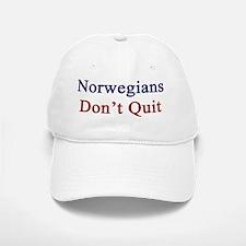 Norwegians Don't Quit  Baseball Baseball Cap