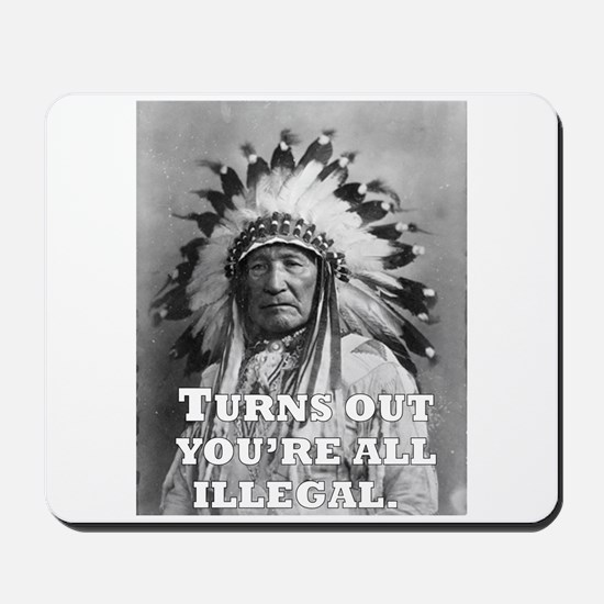 Turns Out You're All Illegal. Mousepad