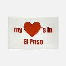 El Paso Rectangle Magnet
