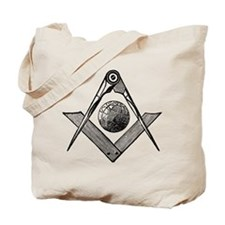 Square and Compass with Globe Tote Bag