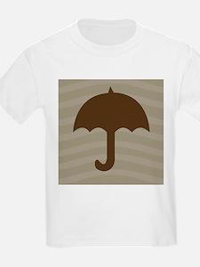 Chocolate Umbrella Waves T-Shirt
