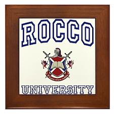 ROCCO University Framed Tile