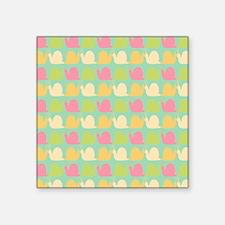 "Retro Fun Snail Pattern Square Sticker 3"" x 3"""