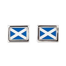 Scottish Flag Rectangular Cufflinks