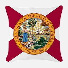 Florida Woven Throw Pillow