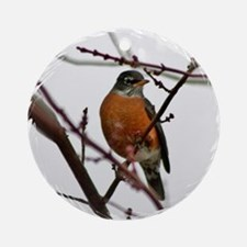 Holiday Robin Ornament (Round)