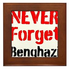 Never Forget Benghazi Framed Tile