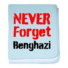 Never Forget Benghazi baby blanket