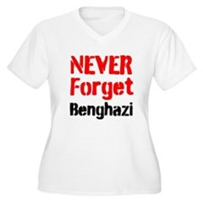 Never Forget Benghazi Plus Size T-Shirt
