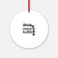 Chuggin Along Ornament (Round)