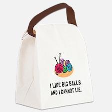 Big Knitting Balls Canvas Lunch Bag