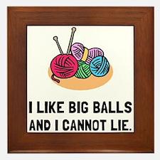 Big Knitting Balls Framed Tile
