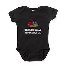 Big Knitting Balls Baby Bodysuit