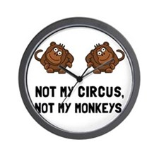 Circus Monkeys Wall Clock