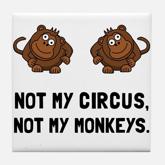 Circus Monkeys Tile Coaster