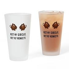 Circus Monkeys Drinking Glass