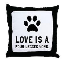 Four Legged Word Throw Pillow
