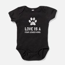 Four Legged Word Baby Bodysuit