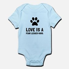 Four Legged Word Body Suit