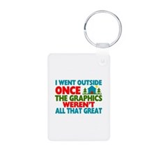 Went Outside Graphics Were Keychains