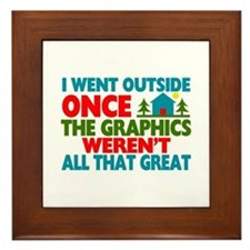 Went Outside Graphics Weren't Great Framed Tile