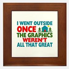 Went Outside Graphics Weren't Great Framed Tile
