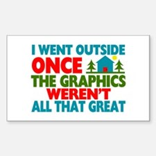 Went Outside Graphics Weren't Decal