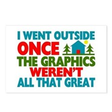 Went Outside Graphics Wer Postcards (Package of 8)