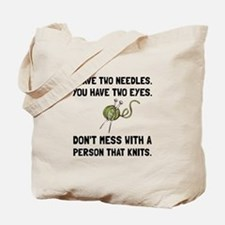 Person That Knits Tote Bag