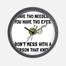 Person That Knits Wall Clock