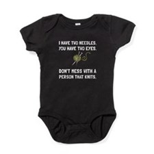 Person That Knits Baby Bodysuit