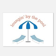 Loungin By The Pool Postcards (Package of 8)