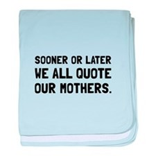 Quote Mother baby blanket
