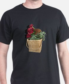 Roses in a Picnic Basket T-Shirt