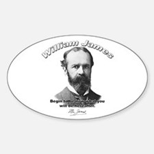 William James 04 Oval Decal