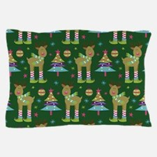 Reindeer Christmas Holiday Pillow Case