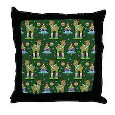 Reindeer Christmas Holiday Throw Pillow