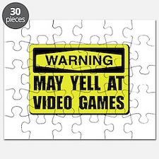 Warning Yell At Video Games Puzzle