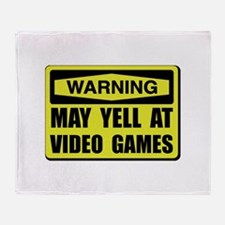 Warning Yell At Video Games Throw Blanket