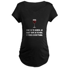 Wine Women Maternity T-Shirt