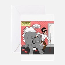 Rhino Helper Animal Greeting Card