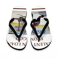 Cute Ice hockey Flip Flops