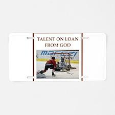 Cute Hockey coach Aluminum License Plate