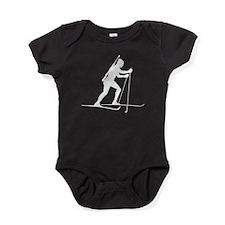 Biathlete Silhouette Baby Bodysuit